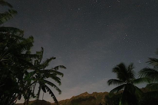 Taiohae Village night sky Nuku Hiva Marquesas Islands French Polynesia