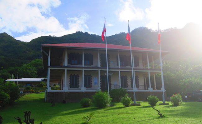 Taiohae nuku hiva marquesas islands - colonial building