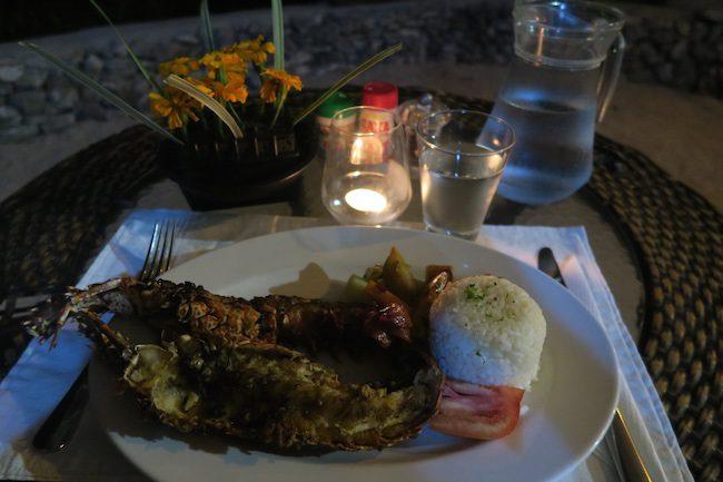 Tanna Evergreen Resort In Vanuatu - Lobster Dinner