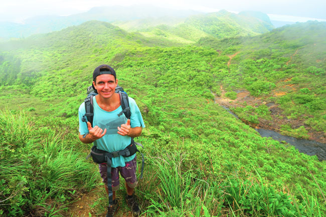 Temehani Plateau hike Raiatea Island French Polynesia Kiam the guide