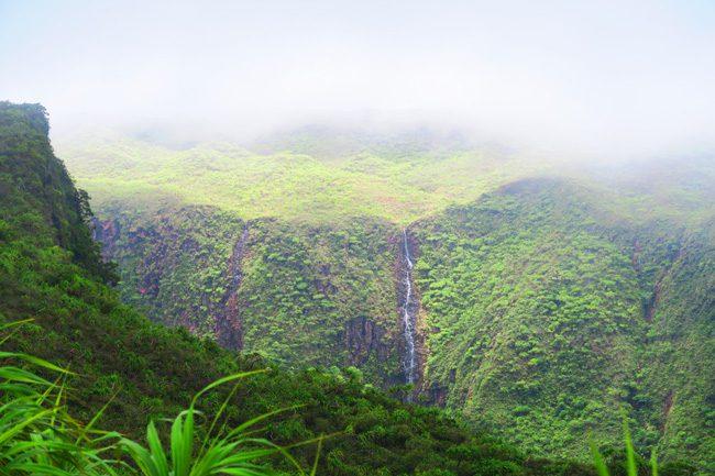 Temehani Plateau hike Raiatea Island French Polynesia waterfall