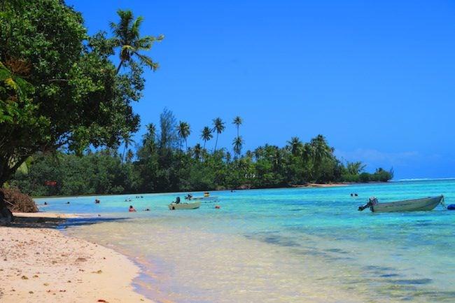 Tiki Village Beach Moorea french polynesia