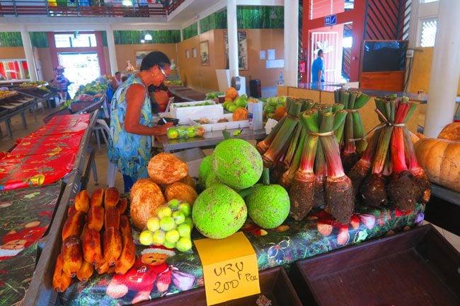 Uturoa market Raiatea Island French Polynesia
