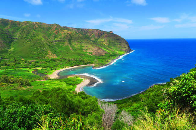 View Halawa Beach Park - twin beaches of Molokai Hawaii