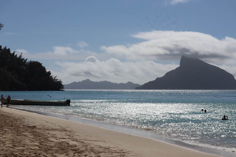 View of Mount Duff from Aukena Gambier Islands French Polynesia
