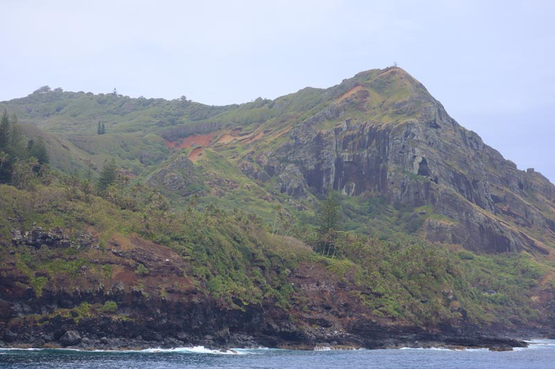 View of Pitcairn Island from boat