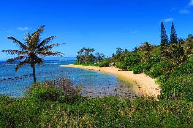 White sand beach - Molokai Hawaii