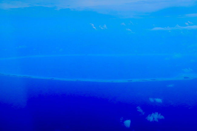 atoll in Tuamotu archipalego French Polynesia