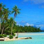 beautiful white sand beach on motu at le tahaa luxury resort french polynesia