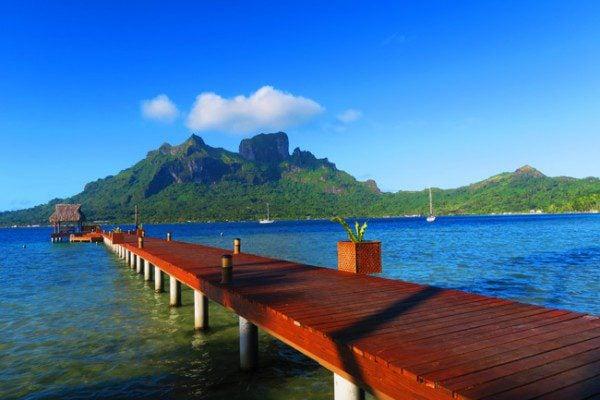 dock over bora bora french polynesia bloody marys