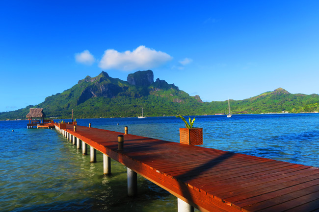 dock over bora bora french polynesia bloody marys
