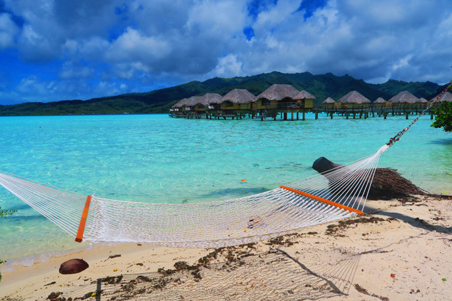 hammock and overwater bungalows le tahaa luxury resort french polynesia