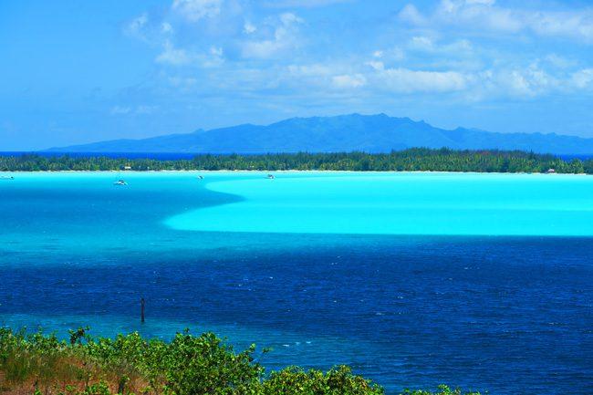 lagoon in bora bora french polynesia