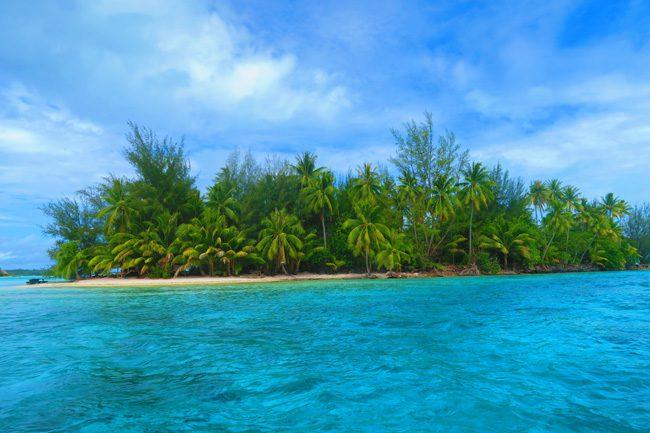 lagoon tour bora bora french polynesia view of private motu