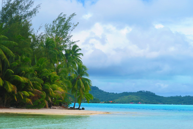 lagoon tour in bora bora french polynesia view from lunch on private motu