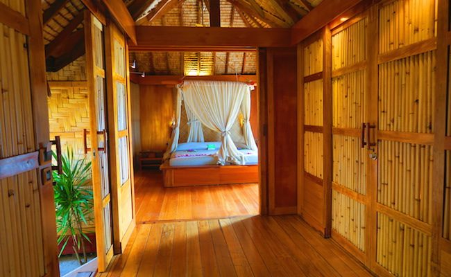 le tahaa luxury resort french polynesia - private vila hall