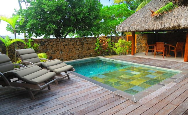 le tahaa luxury resort french polynesia - private vila pool