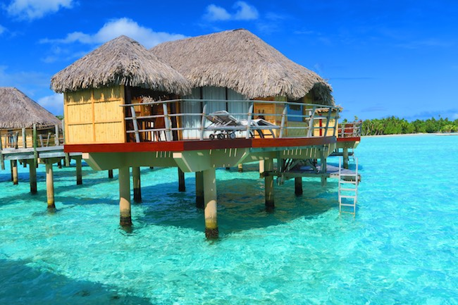 le tahaa luxury resort french polynesia - view from overwater bungalow