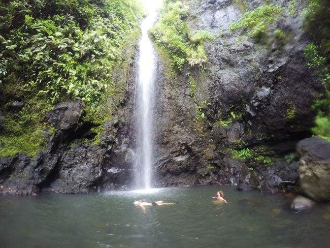 les trois cascades three waterfalls Raiatea Island French Polynesia