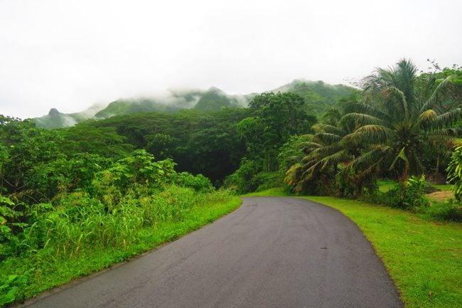 mountain road tahaa french polynesia