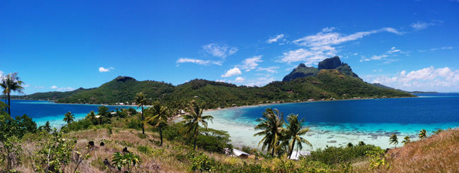 panoramic shot of bora bora french polynesia