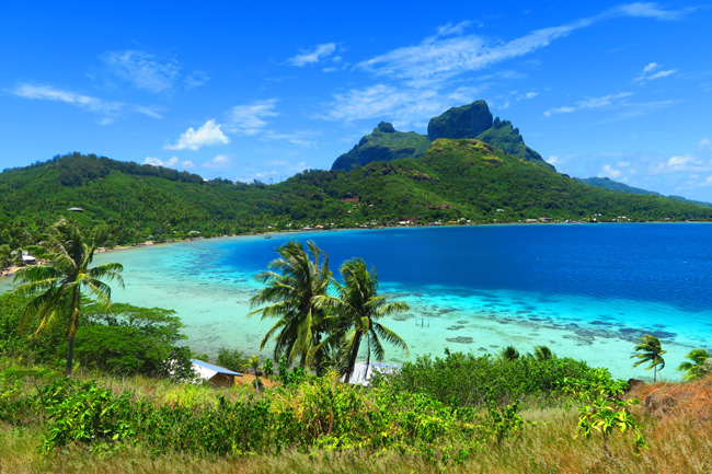 panoramic view of bora bora french polynesia