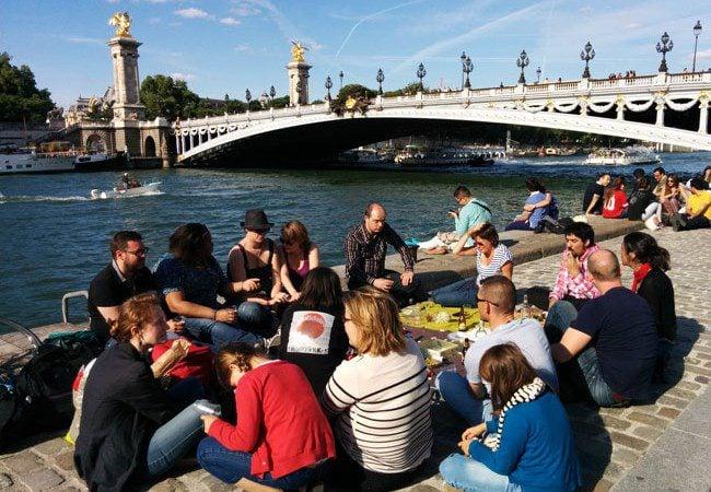 Picnic by the pont alexandre Paris