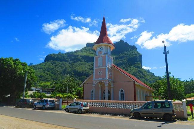vaitape village bora bora french polynesia
