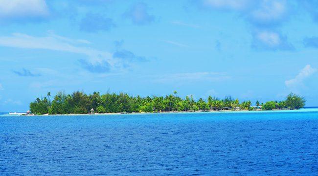 view of motu in bora bora french polynesia