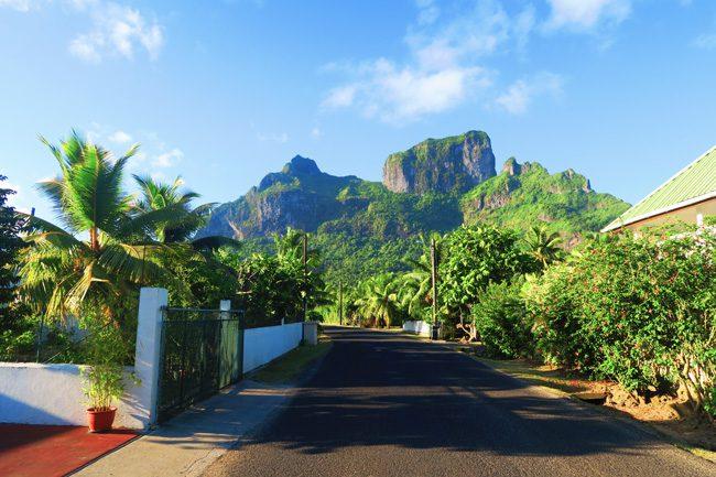 village in bora bora french polynesia
