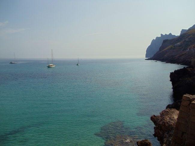 Cala san Vincente Mallorca view