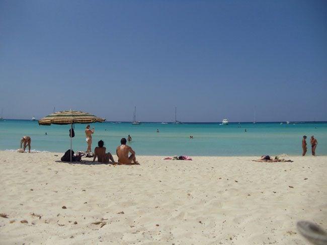 Es Trenc Mallorca nude beach Spain tanning