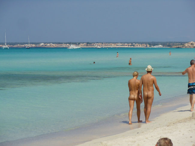 Nudist beaches in spain