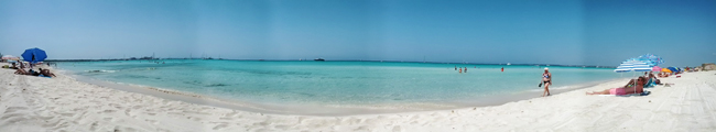 Es Trenc Nude Beach Mallorca Spain panorama