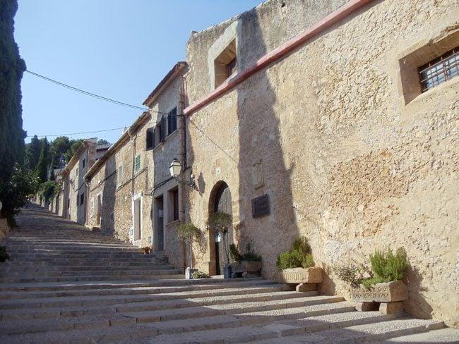 Going up to Calvary Chapel Pollenca Mallorca