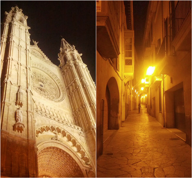 Palma de Mallorca by night