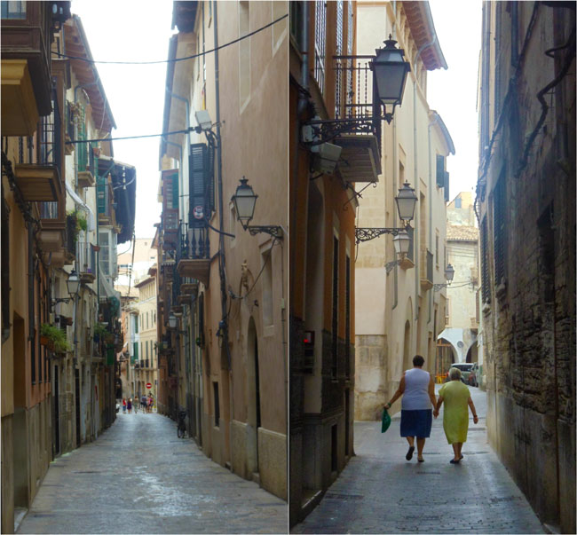 Palma de Mallorca old city narrow alleys2