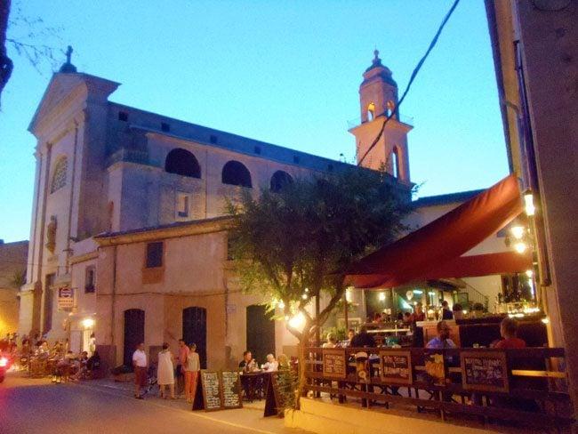 Ses Salines Mallorca village Spain at dusk