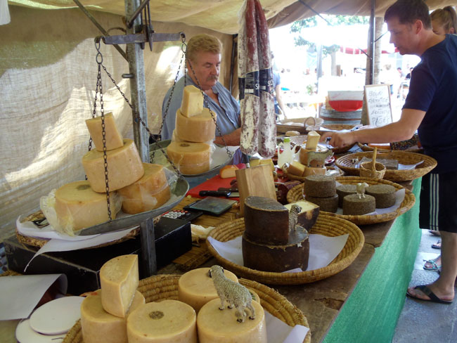 Sineu Market Mallorca cheese