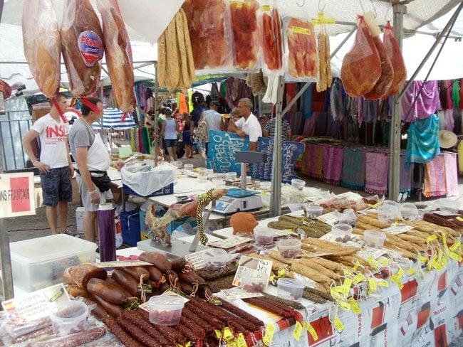 Sineu Market Mallorca meat