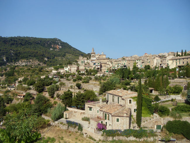 The hillside village of Valldemossa