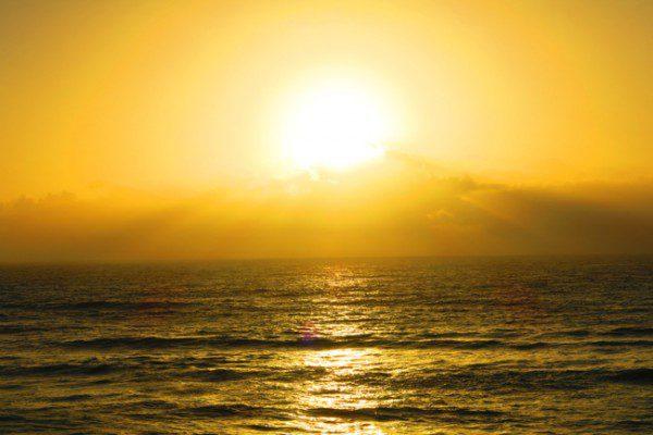 Amazing sunset in Sunset Cliffs San Diego California