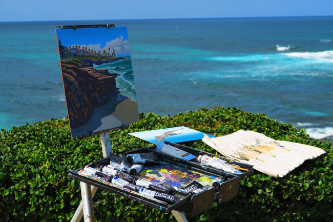 Artists at La Jolla Beach