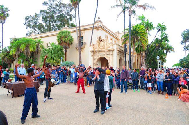 Balboa Park San Diego street performance