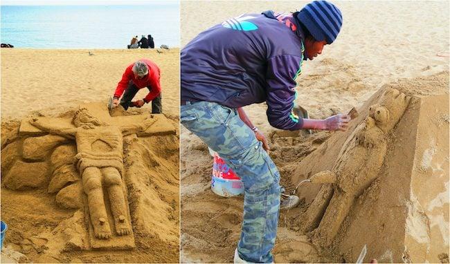 Barcelona Cool Sand Statues