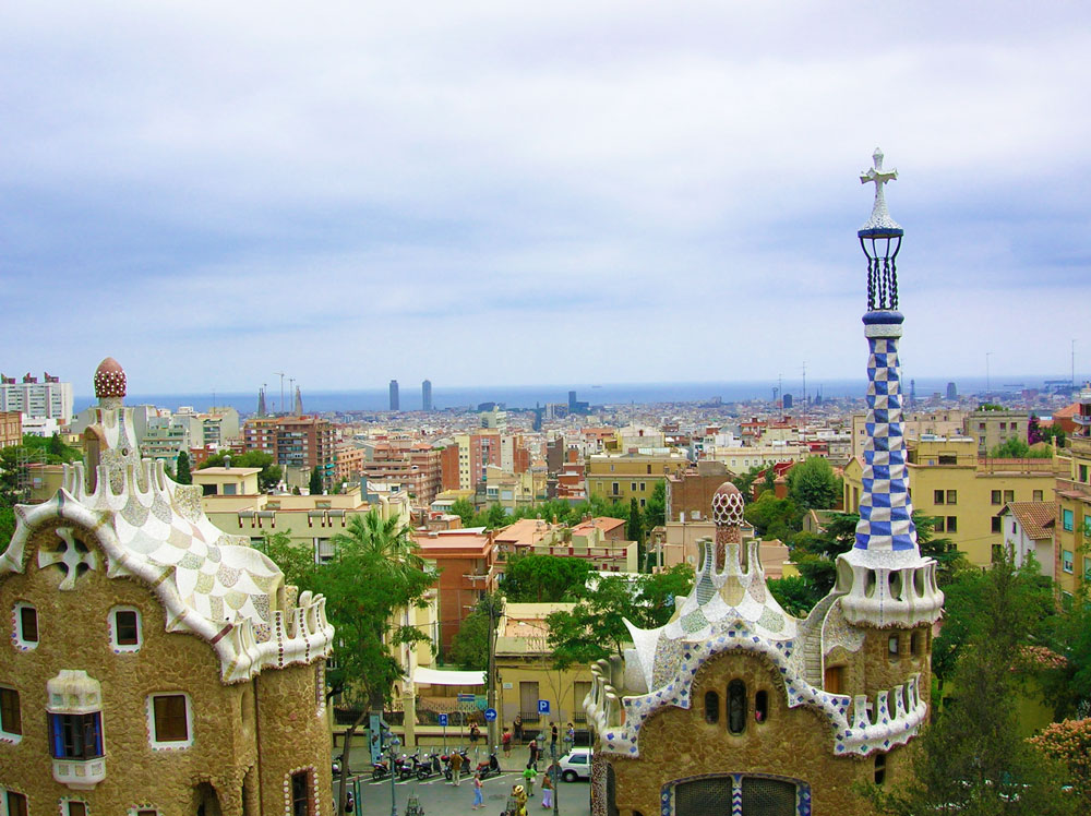 Barcelona Panoramic View Park Guell