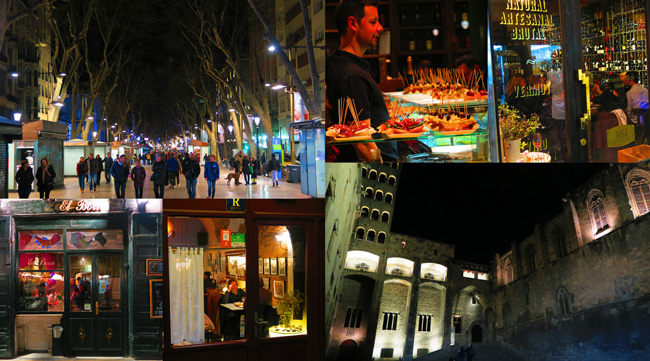 Barcelona-by-night