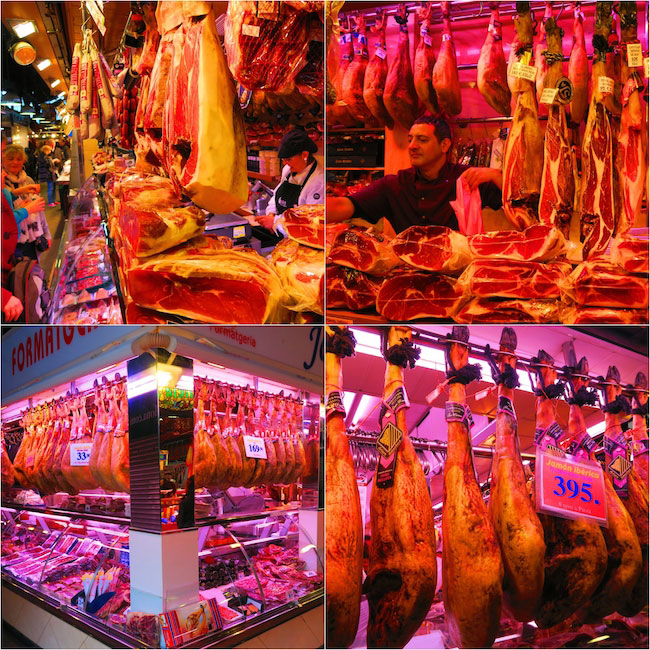 Barcelona-market-meat-section collage