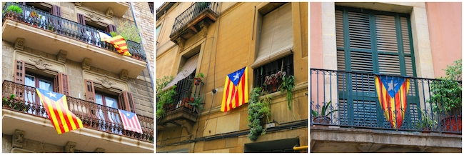 Catalan-Flags-in-Barcelona