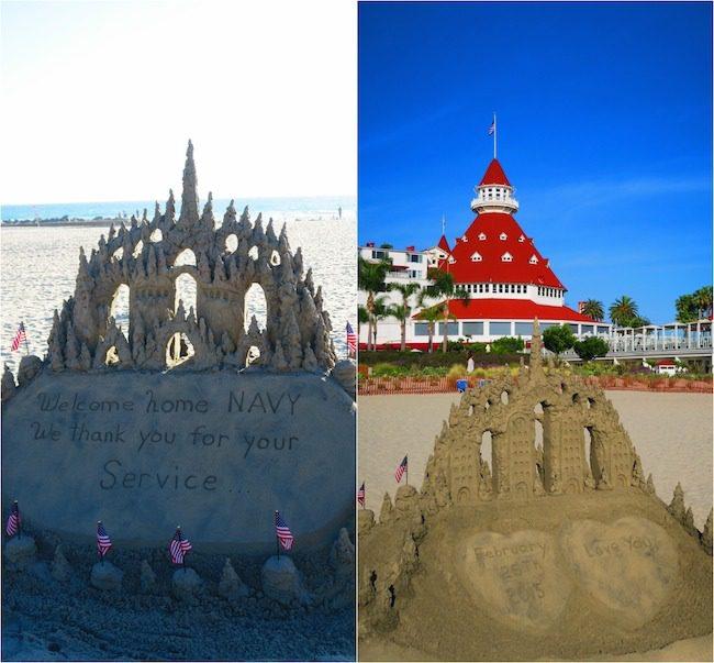 Cornado beach sand castle